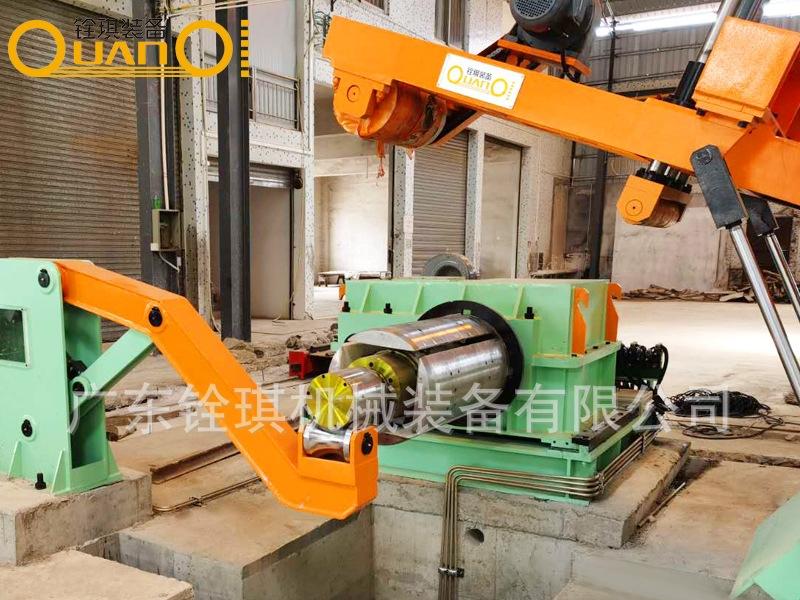 台湾腾麒工艺金属卷板纵剪机生产线